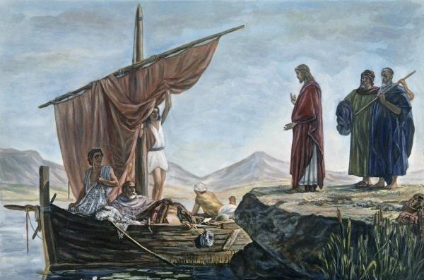 EDWARD ARMITAGE - CHRIST CALLING JAMES & JOHN