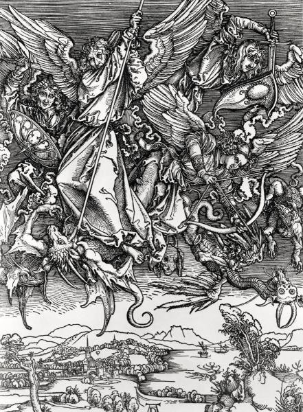 ALBRECHT DURER - ST. MICHAEL FIGHTING THE DRAGON
