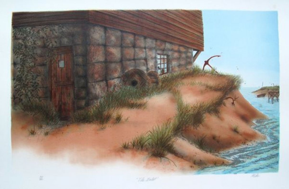 Mike THE INLET Limited Ed. Hand Signed Lithograph