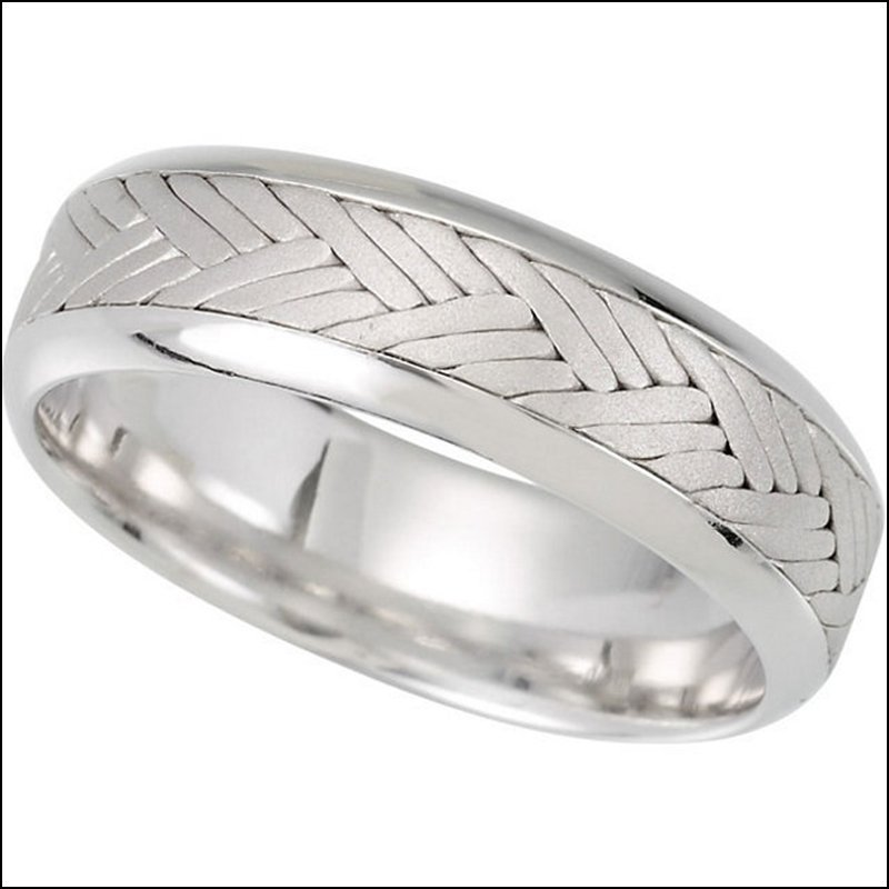 7MM HAND WOVEN COMFORT FIT LADIES OR GENTS WEDDING BAND