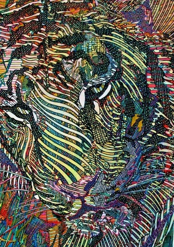 Guillaume Azoulay TIGRIS Hand Signed Giclee on Canvas