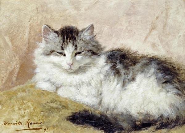 HENRIETTE RONNER-KNIP - A CAT