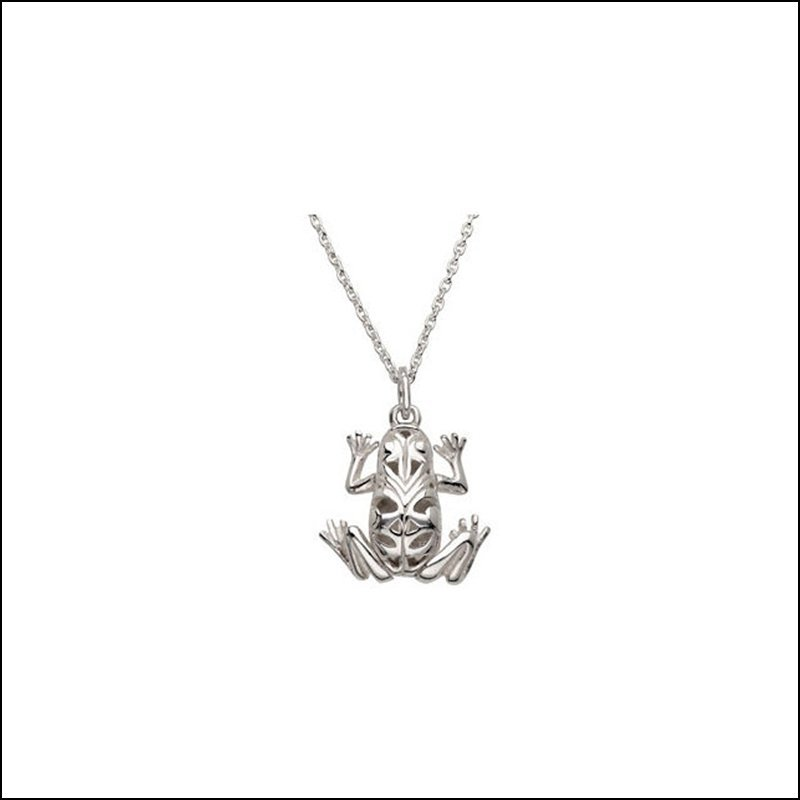ARTICULATED FROG DANGLE OR PENDANT