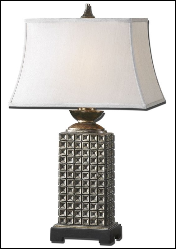 MAGGIA ANTIQUE SILVER TABLE LAMP