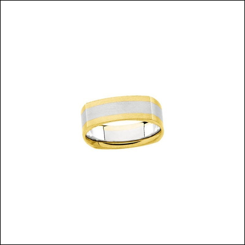 6MM TWO-TONE COMFORT-FIT DESIGN BAND