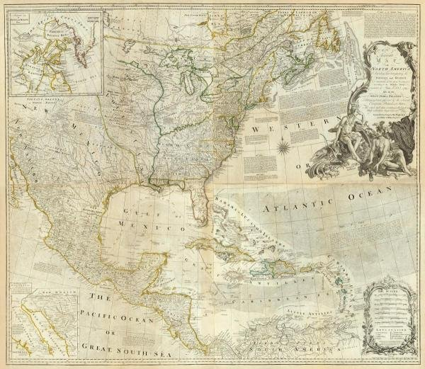 THOMAS JEFFERYS - COMPOSITE: NORTH AMERICA, 1776