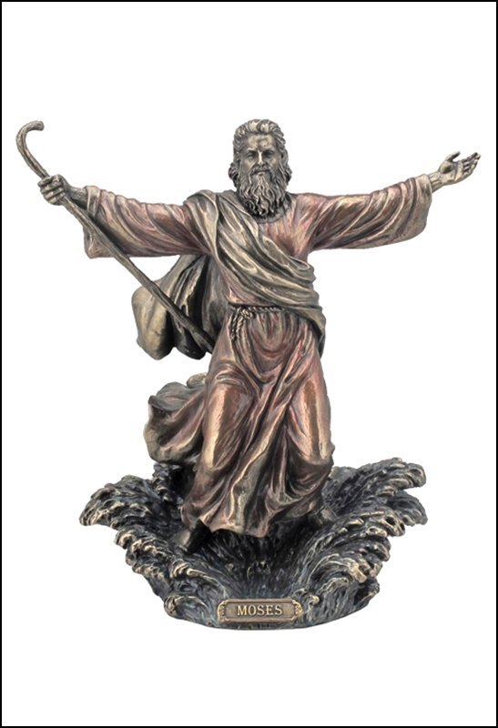 MOSES PARTING THE RED SEA - BRONZE