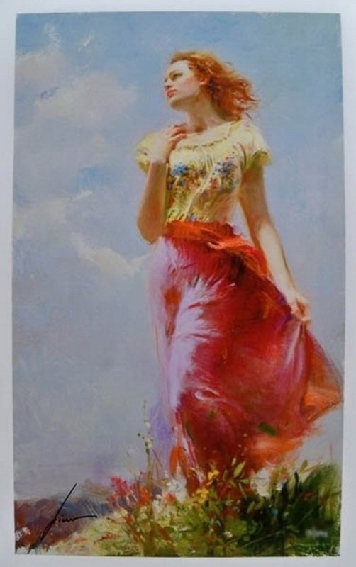 Pino WINDSWEPT Hand Signed Limited Ed. Giclee on Paper