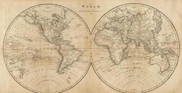 MATHEW CAREY - THE WORLD, 1825