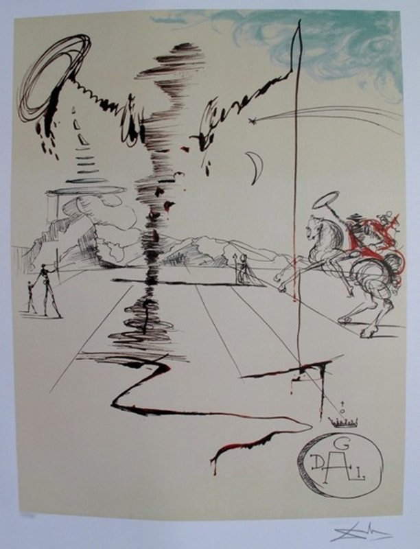 Salvador Dali CHAVALIER Limited Edition Lithograph