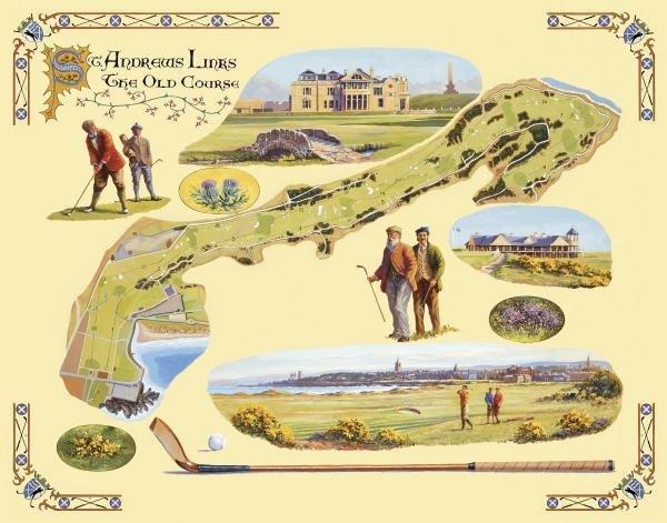 BERNARD WILLINGTON - GOLF COURSE MAP-ST. ANDREWS