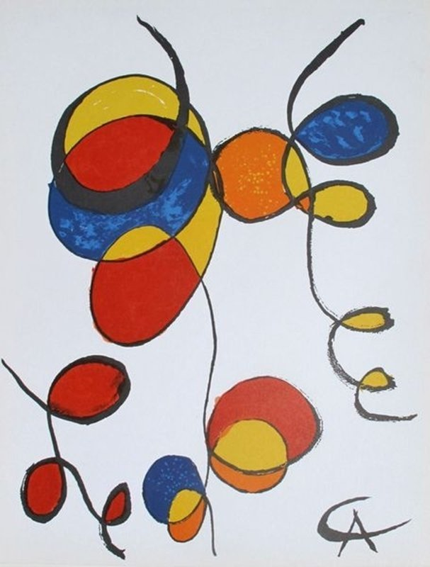 Alexander Calder BALLONS ET CERFS VOLANTS Lithograph