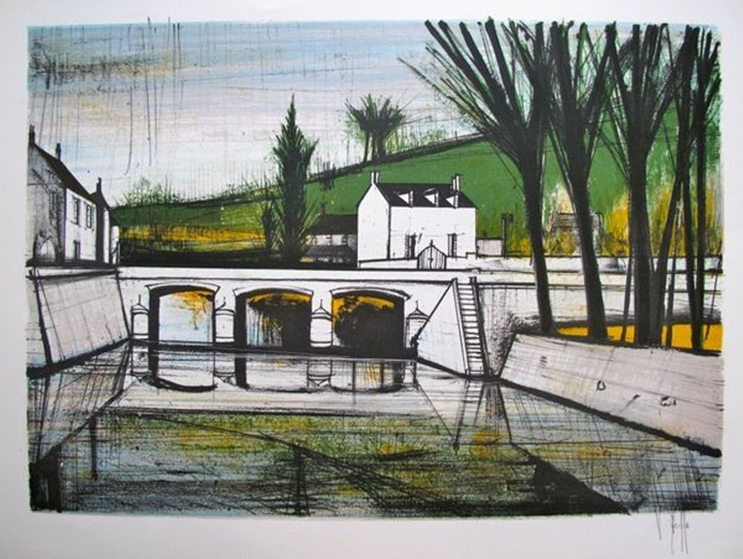 V. Beffa CANAL Hand Signed Limited Ed. Lithograph -