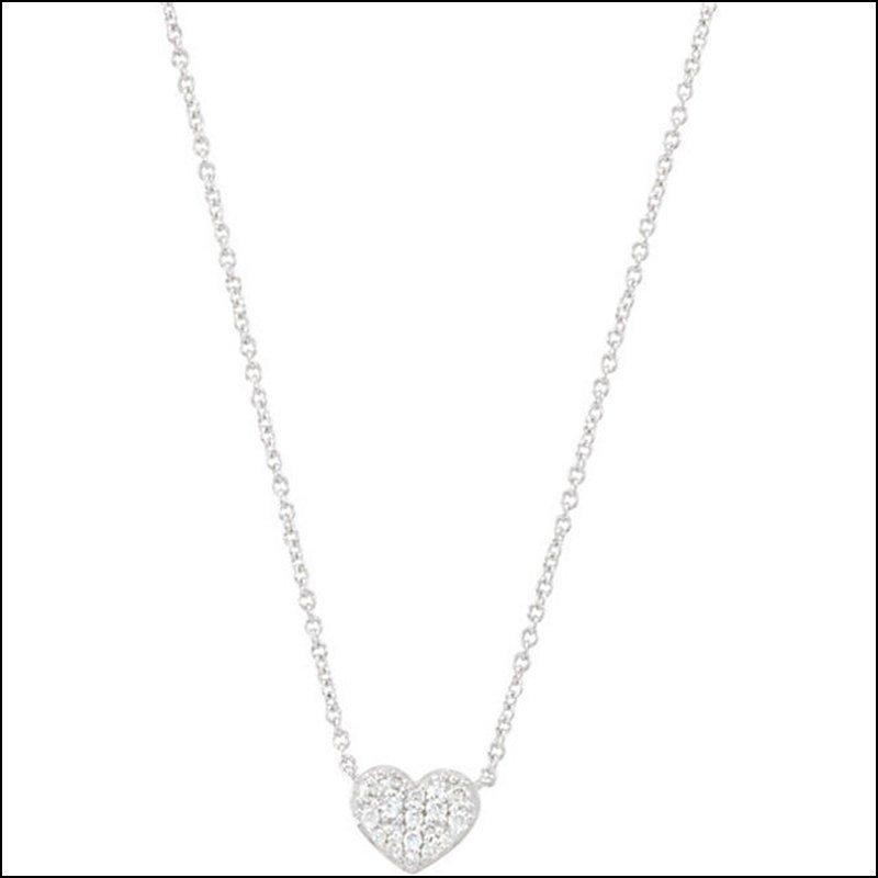 """1/10 CT TW DIAMOND HEART 18"""" NECKLACE"""