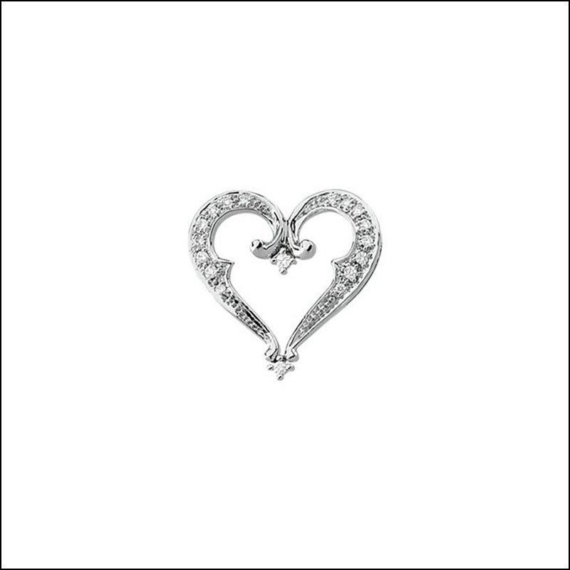 1/5 CT TW DIAMOND HEART PENDANT SLIDE
