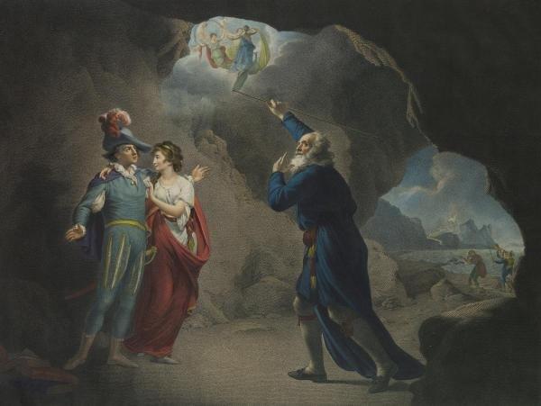 JOSEPH WRIGHT - THE TEMPEST, ACT IV, SCENE I, THE