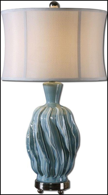 AMOROSO BLUE CERAMIC LAMP