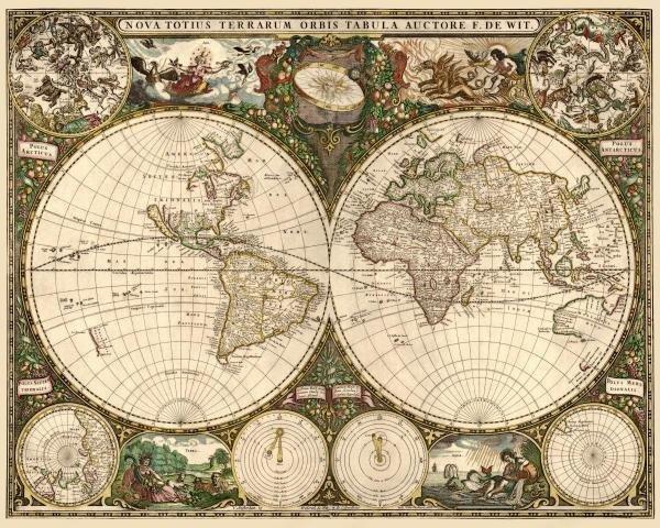 FREDERICK DE WIT - WORLD MAP