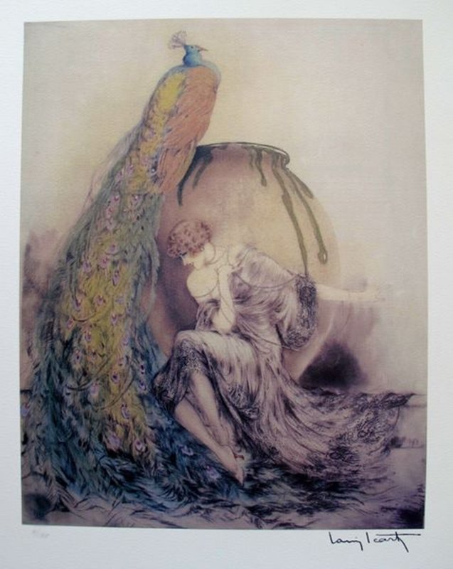 Louis Icart PEACOCK Limited Ed. Giclee