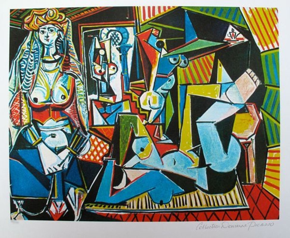 #149 COUPLE RELAXING Picasso Estate Signed Giclée