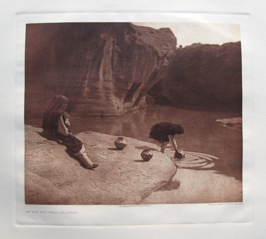 Edward S. Curtis AT THE OLD WELL OF ACOMA Gravure