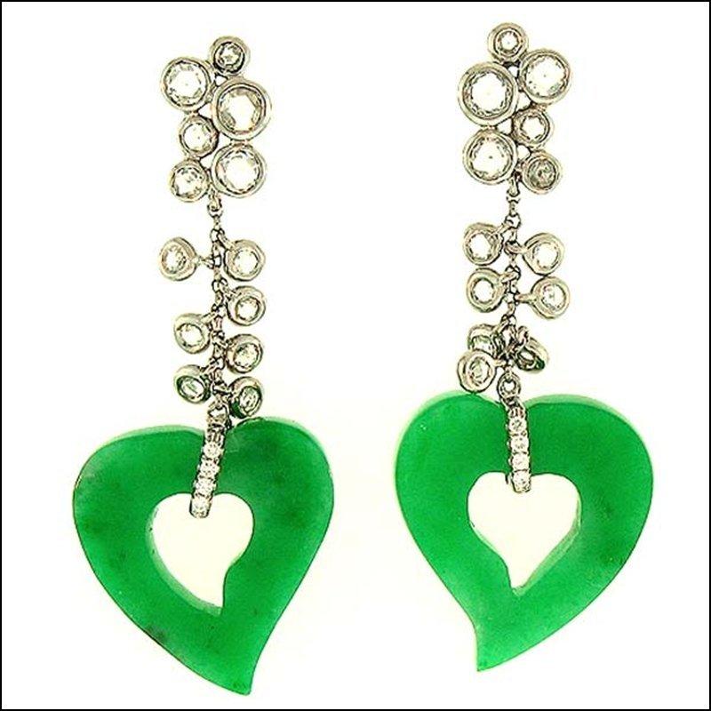NATURAL GREEN JADE EARRINGS