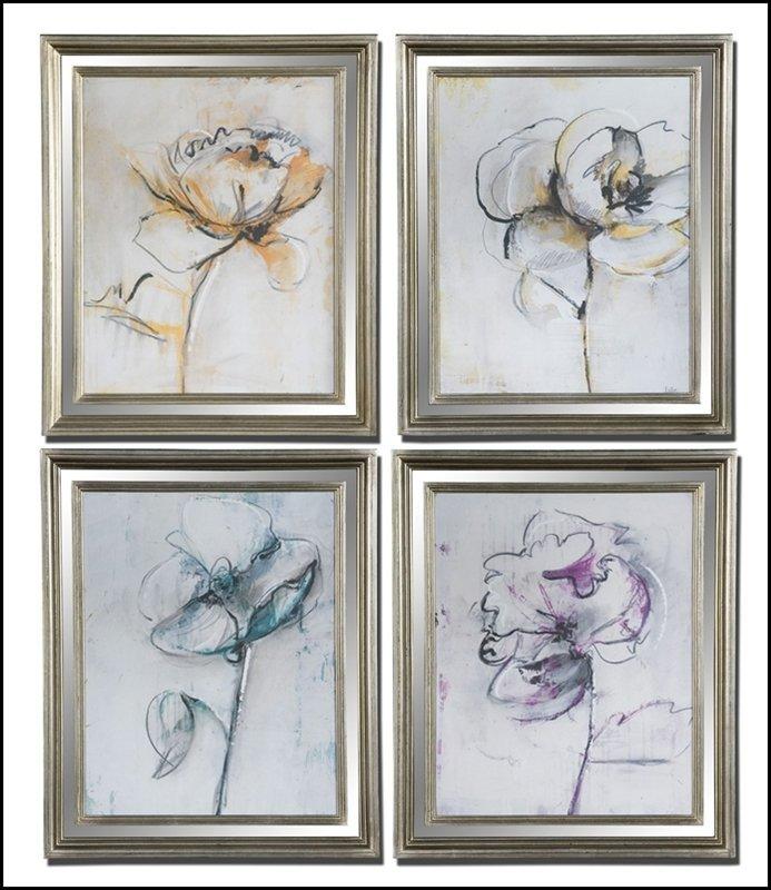 JESTERS FLORAL ART SET/4