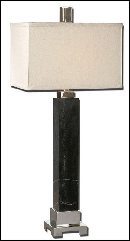 JETT BLACK MARBLE LAMP