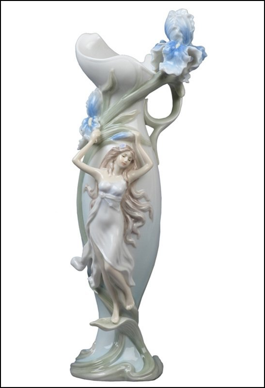 WOMAN HOLDING IRIS (BLUE)