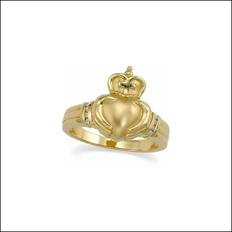 .05 CT TW DIAMOND CLADDAGH RING