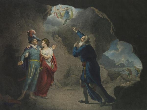 JOSEPH WRIGHT - THE TEMPEST, ACT IV, SCENE I, THE