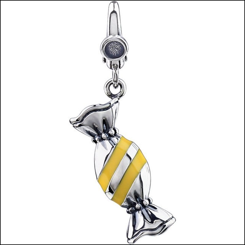 WRAPPED ENAMEL CANDY CHARM
