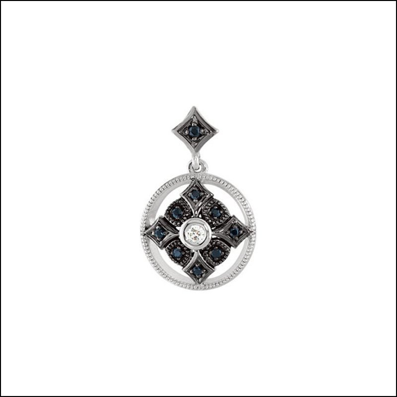 GENUINE SPINEL & DIAMOND PENDANT