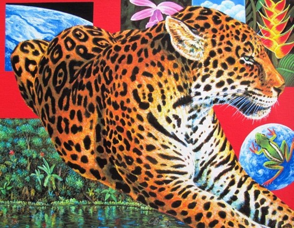 Charles Lynn Bragg LEOPARD PARADISE Hand Signed Limited