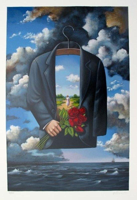 Rafal Olbinski GRACEFUL DREAM OF POETIC GLORY Hand