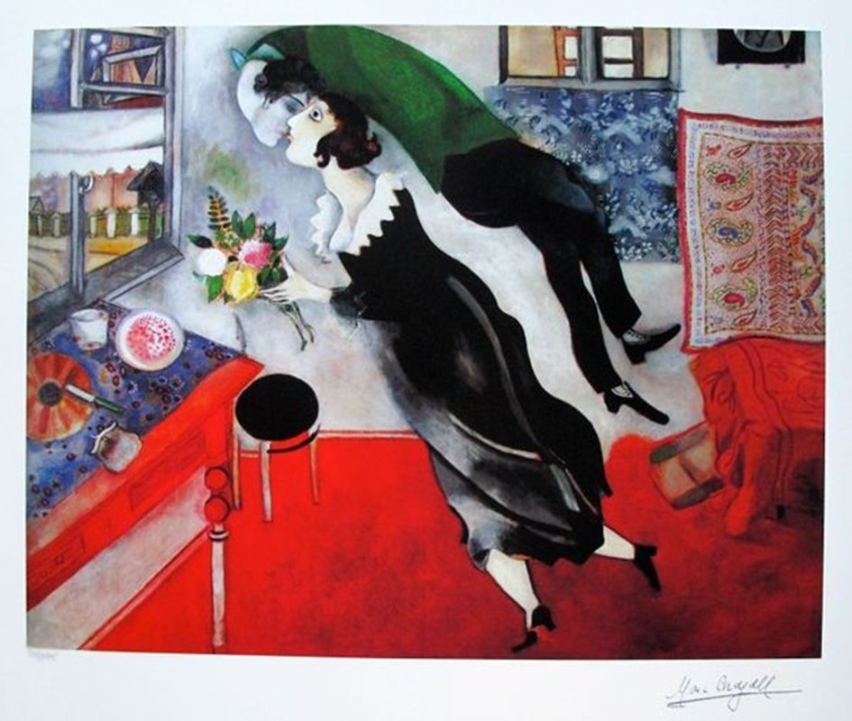 Marc Chagall BIRTHDAY Limited Ed. Small Giclée