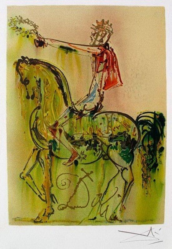 Salvador Dali Dalinean Horses CHEVALIER ROMAIN Original