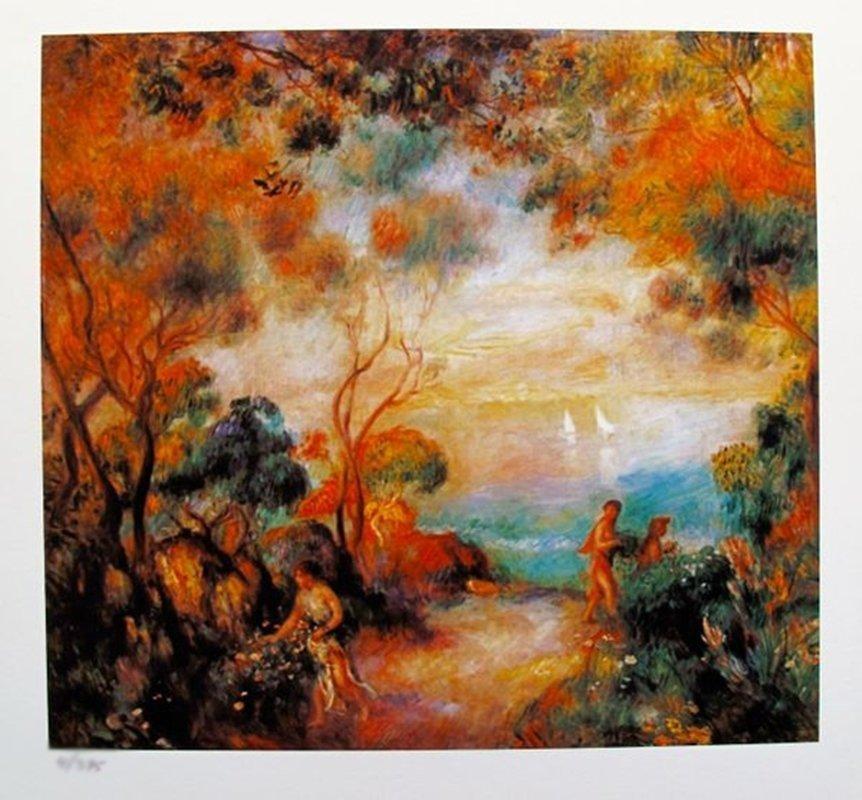 Pierre Auguste Renoir GARDEN IN SORRENTO Limited Ed.