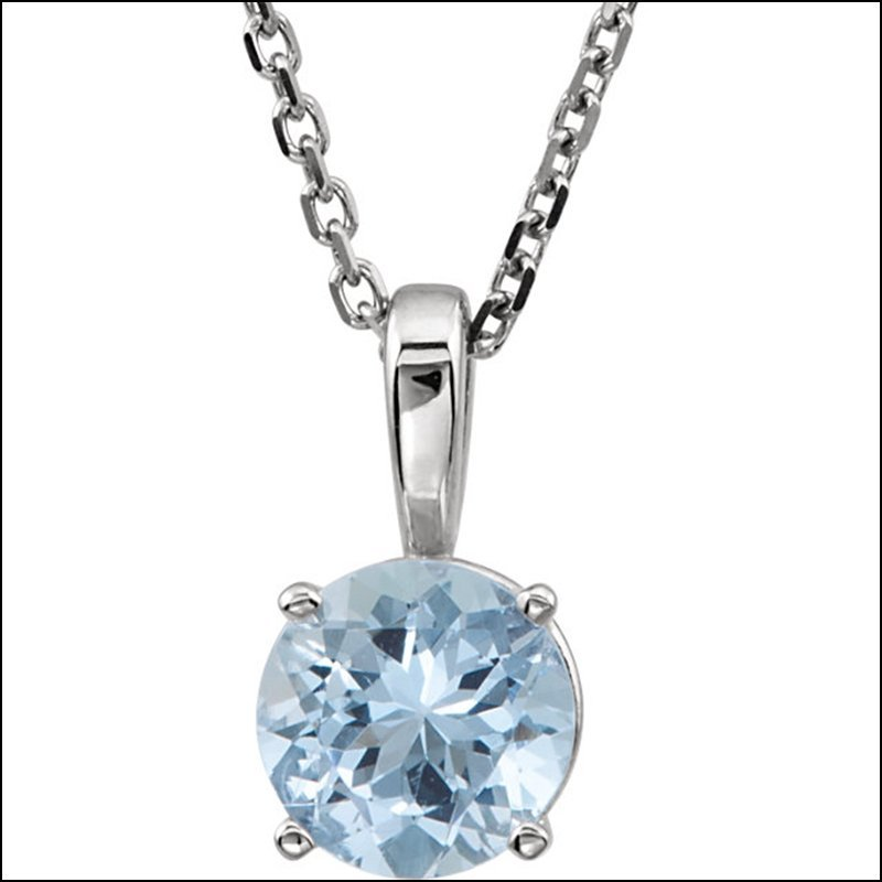 4-PRONG SOLITAIRE LIGHT WEIGHT PENDANT FOR ROUND STONE