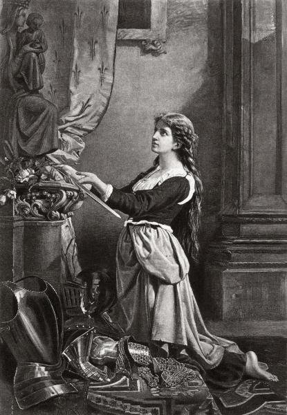 UNKNOWN - JOAN OF ARC AT PRAYER