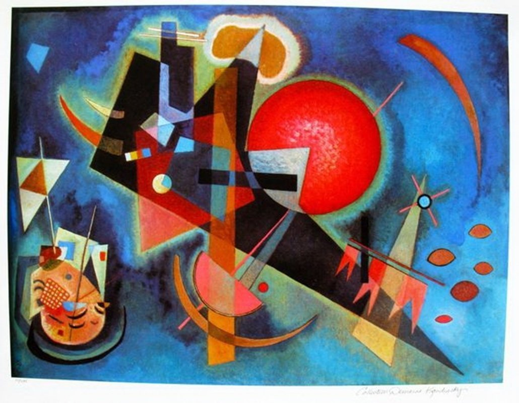 Wassily Kandinsky IN BLUE Estate Signed Limited Ed.