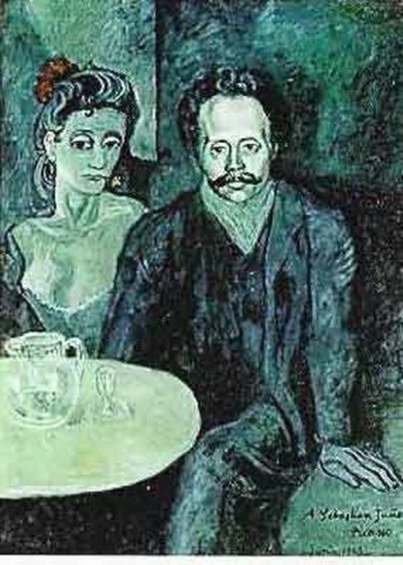 #126 COUPLE AT CAFE Picasso Estate Signed Giclée
