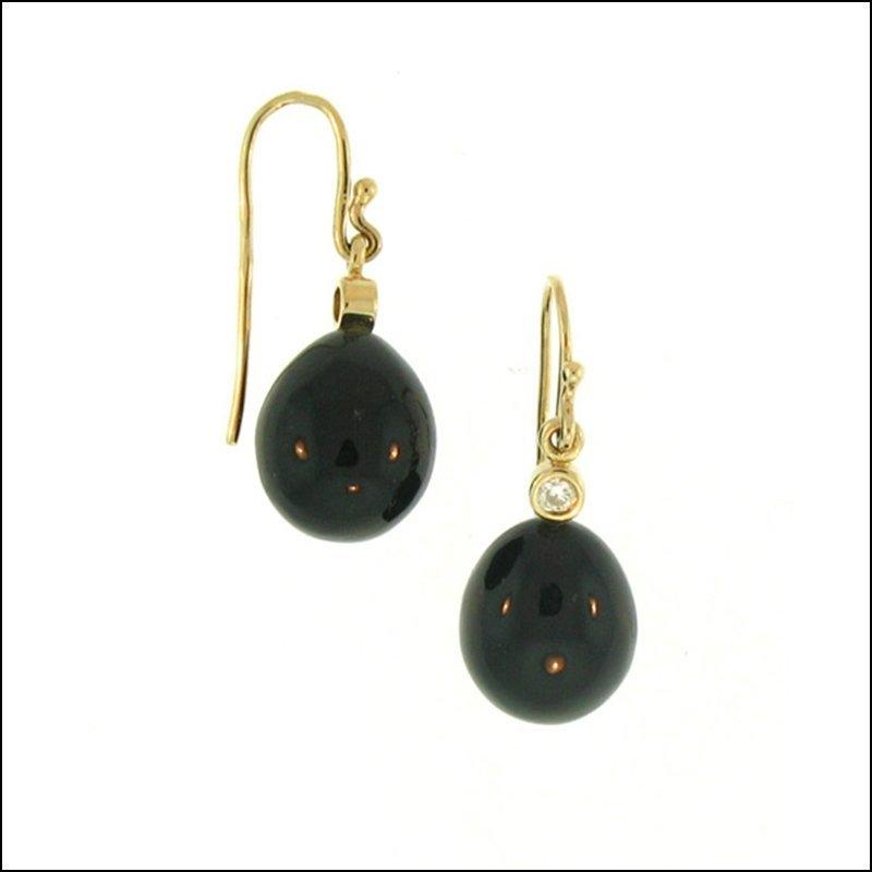 NATURAL BLACK JADE EARRINGS