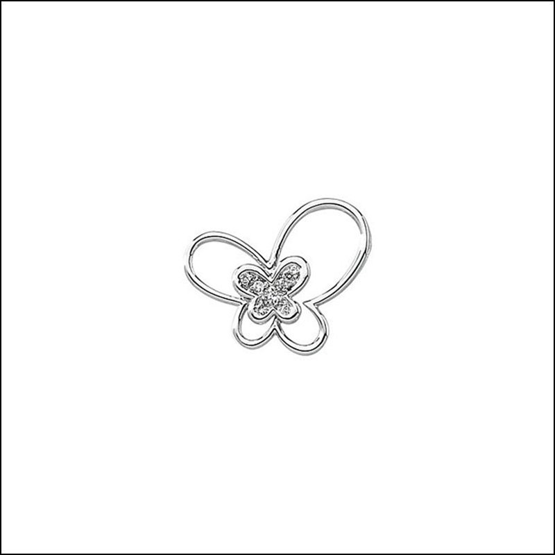 .06 CT TW DIAMOND BUTTERFLY PENDANT
