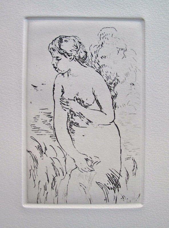 Pierre-Auguste Renoir STANDING BATHER Restrike Etching