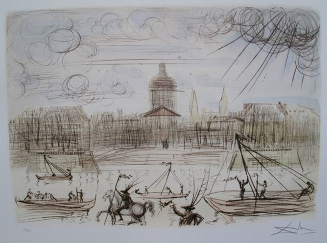 Salvador Dali ACADEMY OF FRANCE Limited Ed. Lithograph