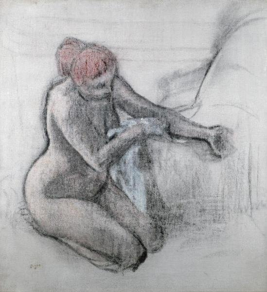 EDGAR DEGAS - NUDE WOMAN DRYING HERSELF AFTER THE BATH