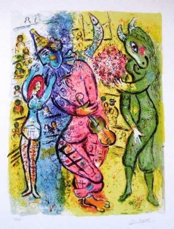 Marc Chagall CIRCUS V Limited Ed. Giclee