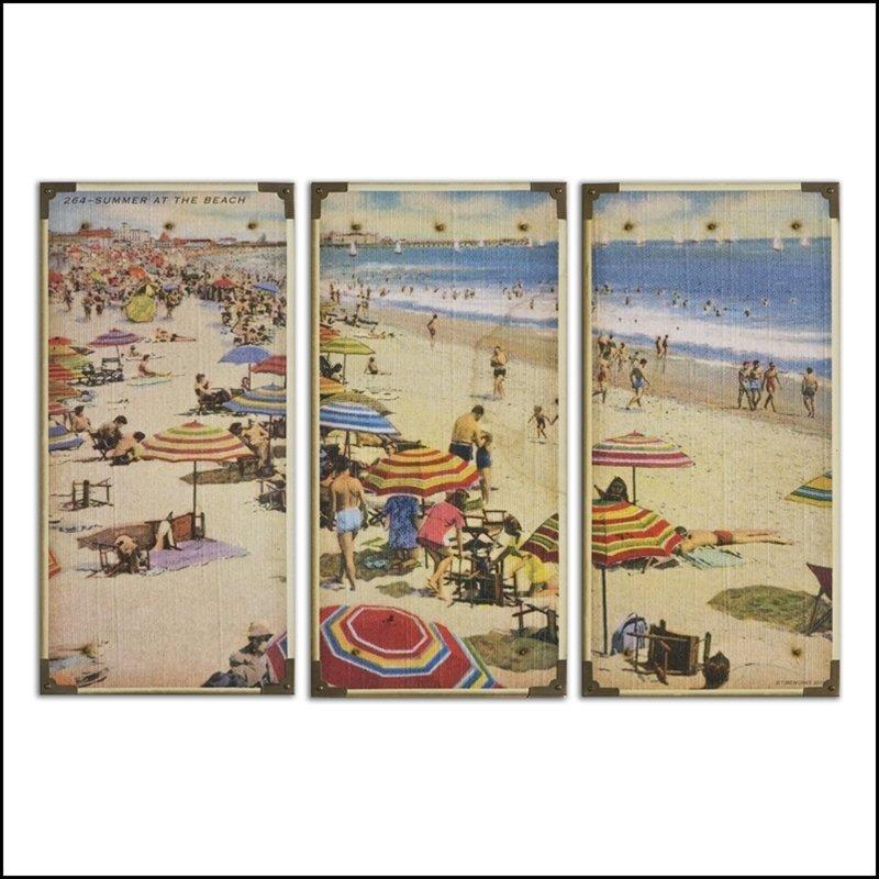 SUMMERTIME BEACH WALL ART, S/3