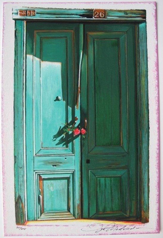 Igor Medvedev GREEN DOOR #26 Hand Signed Limited Ed.